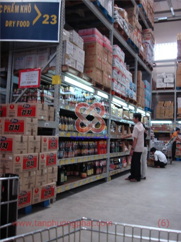 Supermarket Shelves + Storage warehouse